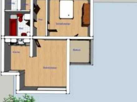 490 €, 56 m², 2 Zimmer