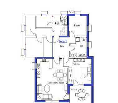 Erstbezug: schöne 3,5-Zimmer-Wohnung mit Einbauküche und Terasse in Erlangen