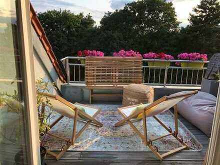 Luxuriöse 4-Zimmer-Maisonette-Wohnung, zentral und mit Blick ins Grüne
