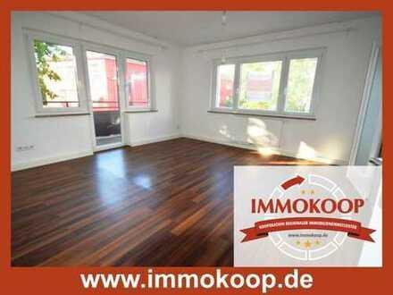 Sonnendurchflutete 3- Zi.- Wohnung mit großem Balkon im Herzen der Stadt ( Teilerbbaurecht)