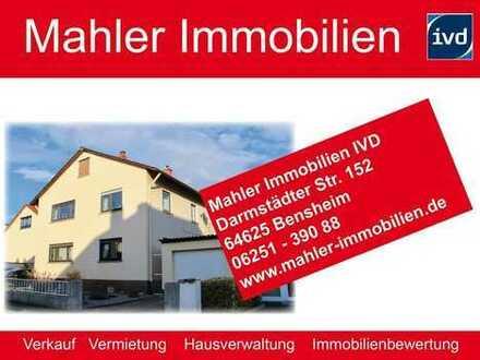 Wohnen in Bensheimer Weststadt – gepflegtes Ein- bis Zweifamilienhaus mit Garage