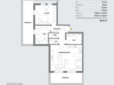 Obergeschoß - Wohnung 10 - großzügige Wohnung mit 2 Terrassen