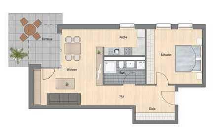 Erstbezug: Neue Erdgeschosswohnung mit Terrasse und Garten in Leonberg Stadtmitte