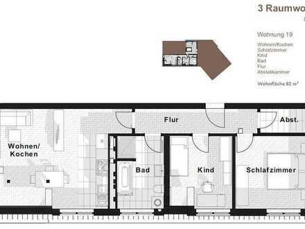 Moderne 3-RWE im DG mit Platz für die Familie mit Neubau-Komfort!