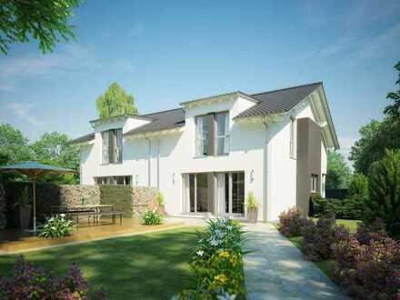 Reales Grundstück - Eigenheim zum Familienglück - Doppelhaushälfte mit viel Platz - Unverbaubarer Bl