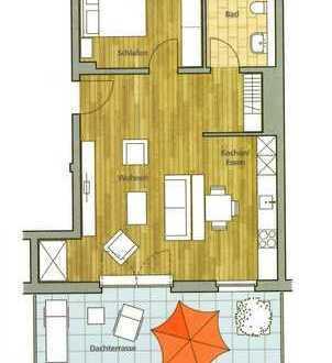 Erstbezug: 2-Zimmer-Penthouse-Wohnung mit Einbauküche und Dachterrasse in Emmendingen