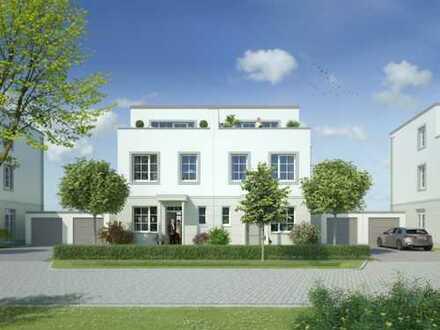 Stilvolle Doppelhaushälfte im Grünen