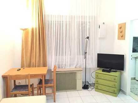 Vollmöblierte 1,5 -Zimmer Erdgeschosswohnung mit Einbauküche
