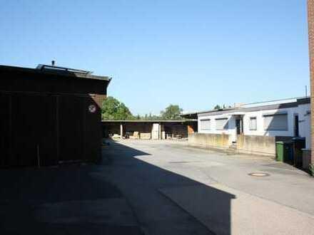 Produktionshalle mit Lagerhallen und Freifläche