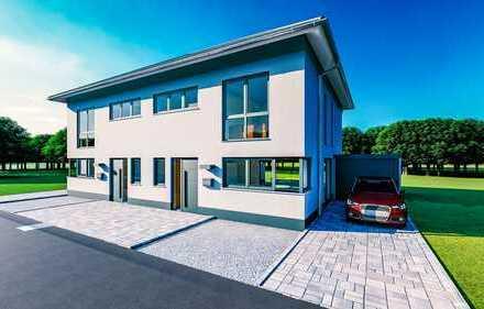 Individuell planbar - moderne Stadtvilla als Doppelhaushälfte + Garage ab 150m² (schlüsselfertig)