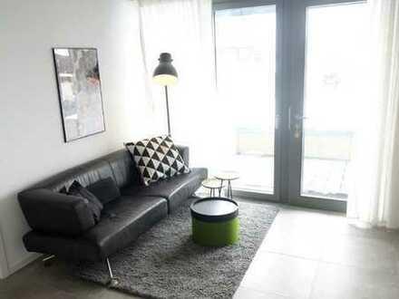 Erstbezug möbilierte Wohnung mit EBK und Terasse: stilvolle 2-Zimmer-Wohnung in Weil der Stadt