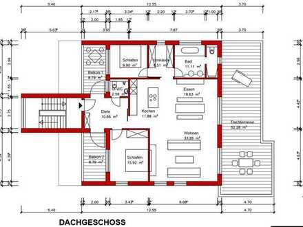Erstbezug mit Balkon und Terrasse: stilvolle und traumhafte 3-Zimmer-Penthouse-Wohnung in Heidelberg