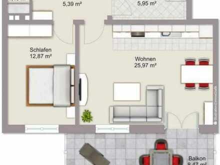 Stilvolle, neuwertige 2-Zimmer-Wohnung mit Balkon in Ergoldsbach