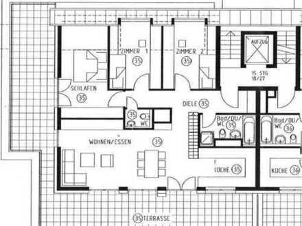 Repräsentatives Penthouse mit großer Dachterrasse und Traumblick