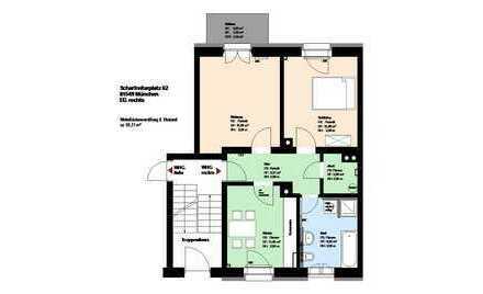 Giesing***2-Zimmer-Wohnung***Küche mit EBK***möbliert***Balkon***Keller***
