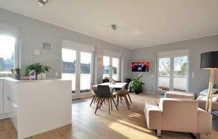 Neuwertige 3-Zimmer-Penthouse-Wohnung mit toller Aussicht und Einbauküche in Alt-Bocklemünd