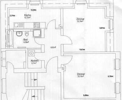Attraktive, modernisierte 2-Zimmer-Wohnung in Dresden