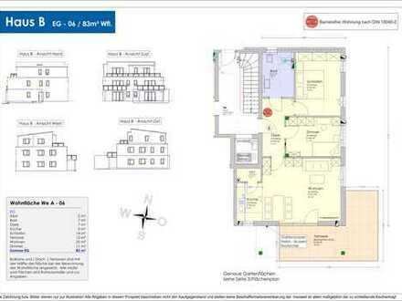 Neubau - 83m² Erdgeschosswohnung mit großer Südterrasse und Garten (B-06)