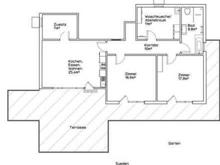 Neuwertige Wohnung mit drei Zimmern sowie Terrasse und EBK in Rot am See