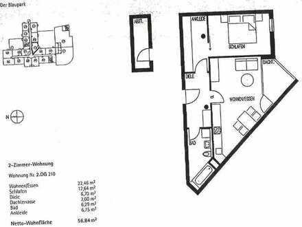 Schöne zwei Zimmer Wohnung mit Balkon in Ulm, Söflingen