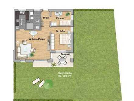 3-Zimmer mit Garten im Betreuten Wohnen