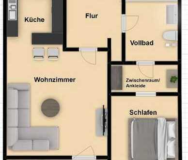 RESERVIERT! Freie Zwei-Zimmer-Wohnung mit Weitblick inklusive Garagenstellplatz