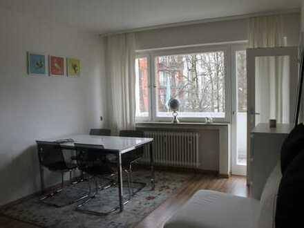 Helle, freundliche 1,5 -Zimmer-Whg, möbliert, Apartment mit Balkon in M-Pasing ab 1.9.19 frei