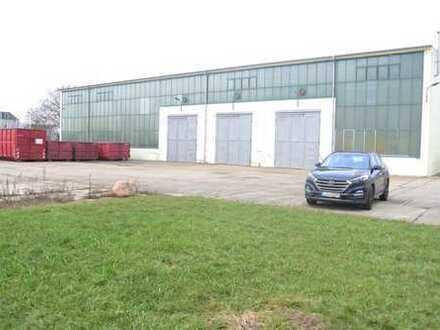 freistehende Lager- Produktion- Mehrzweckhalle in Leipzig-Dölitz, Parkplätze, 9m Höhe, 5 Rolltore