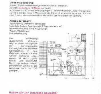 Attraktive 2,5-Zimmer-Wohnung mit EBK in Karlsruhe