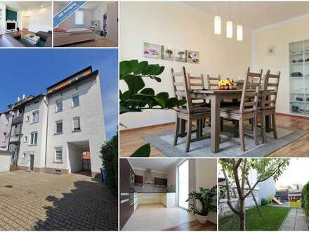Moderne und geräumige 5-Zimmer-Wohnung mit Balkon, sehr guter Zustand, Carport, Garage, Gartenanteil
