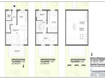 """Neubau Reihenmittelhaus """"34"""" mit 3-4 Zimmer im """"Quartier Harzstraße"""""""