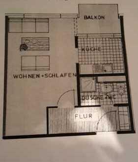 Helle, moderne 1- Zimmer Wohnung mit Balkon