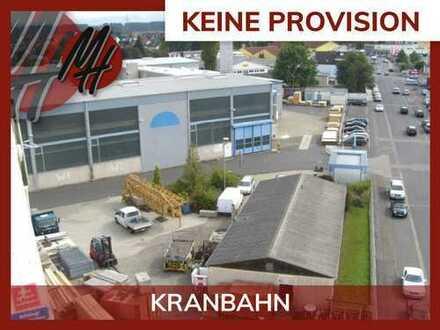 PROVISIONSFREI! 45 TO KRANBAHN! Lager-/Produktionsflächen (2.300 qm) zu vermieten