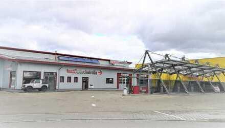 Autowaschpark mit Waschstrasse und 5 SB-Waschplätze im Gewerbegebiet Münchnerau (Landshut Park)