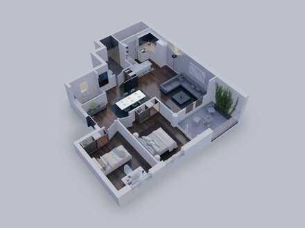 Stilvolle 3-Zimmer Wohnung mit Loggia