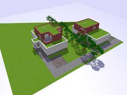 Baugrundstück für Einfamilienhaus 2. Reihe, Südausrichtung, Blick in´s Grüne