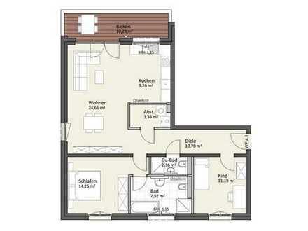 1. Obergeschoss mit Balkon & Lift - Wohnung A4