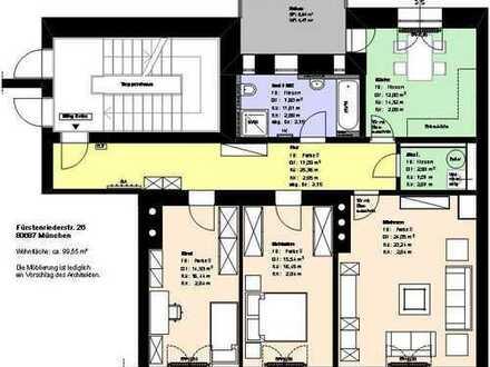 *Laim*3 Zimmer*möbliert*sep. Küche mit EBK*Badezimmer mit Wanne*Balkon*Speicher*Parkett*