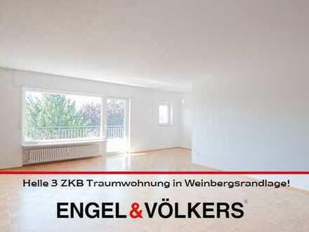 Helle 3 ZKB Traumwohnung in Weinbergsrandlage!