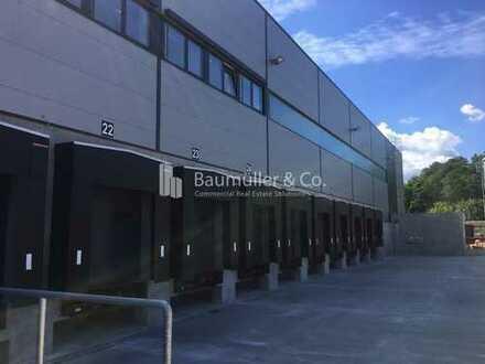 """BAUMÜLLER & CO."" - 10.000 m² moderne Logistikfläche - Rampenlager-Neubau - BAB-Anbindung"