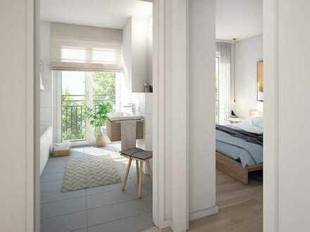 Urbanes Wohnen in toller Lage Frankfurts! Modernes 2-Zimmer-Appartement mit großer Dachterrasse