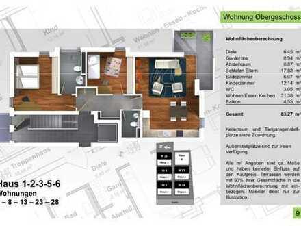 83,27qm 3 Zimmer Etagenwohnung, No. 3