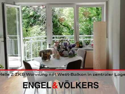 Helle 2 ZKB Wohnung mit West-Balkon in zentraler Lage!