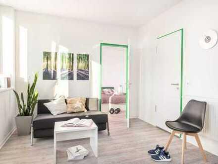2 Zimmer und Blick auf die Skyline! Modern! Stylisch! Möbliert mit Pantry Küche - H2F