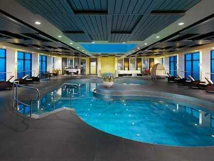 Möblierte Wohnung mit Pool/Gym/Sauna, Concierge, Blick über die ganze Stadt
