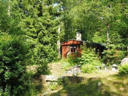 Idyllisch gelegenes Erholungsgrundstück im Elstergebirge mit Bungalow und Bachlauf!