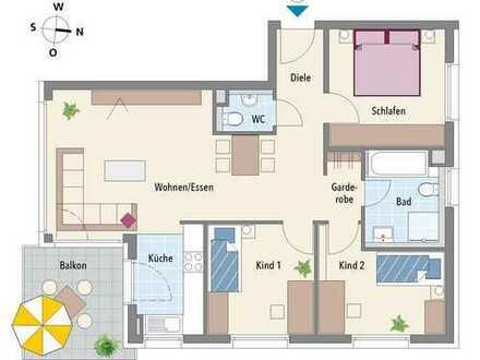 Ideal geschnittene 4-Zimmer Wohnung mit allen Annehmlichkeiten