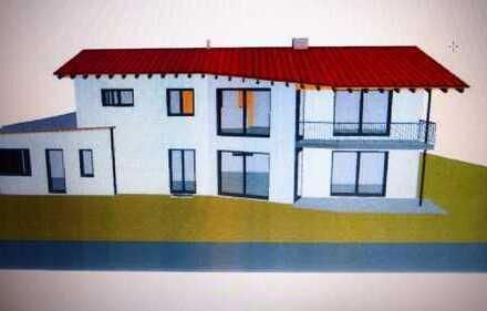 Erstbezug: Moderne, großzügige 3,5-Zimmer Obergeschoßwohnung in Irsee mit Sichtdachstuhl u Bergblick