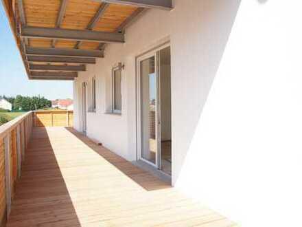 ... Neubau-Wohnung im 1. OG mit ca 30qm Süd- Balkon in Mühldorf ...