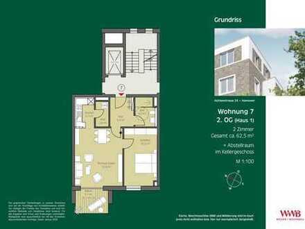 2- Zimmer Wohnung zwischen der List und der Nordstadt!
